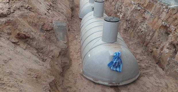 Installing Sewage Treatment Plant