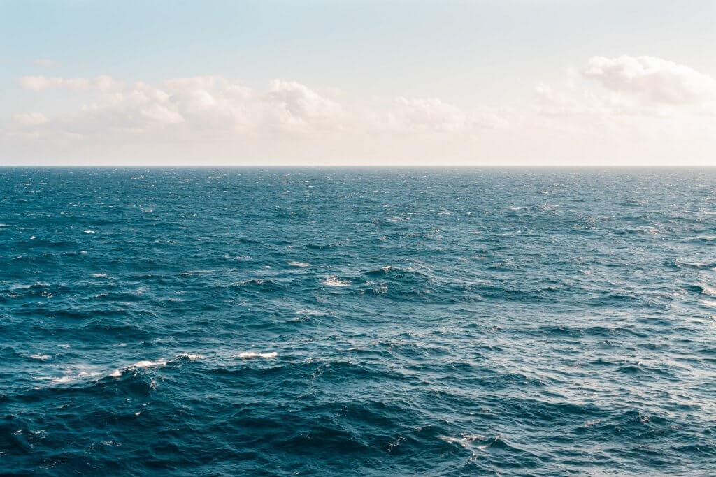Ocean with choppy waves